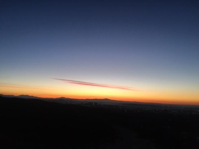 NY sunrise before